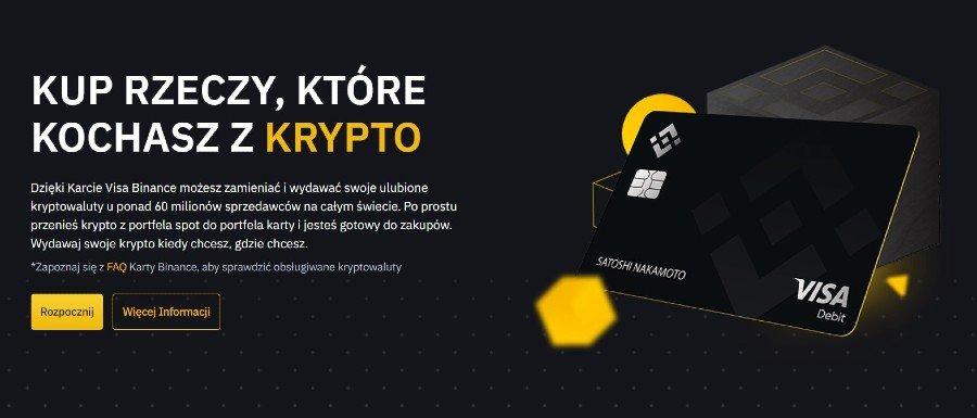 binance card kryptowaluty za darmo