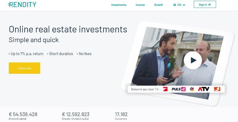 rendity crowdfunding nieruchomości