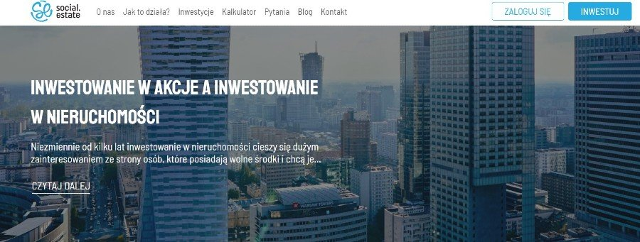 social estate crowdfunding nieruchomości