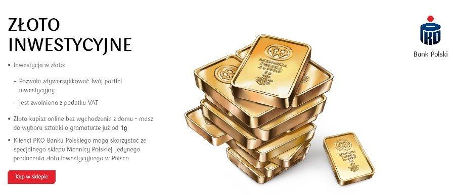 gdzie kupić złoto pko bank polski