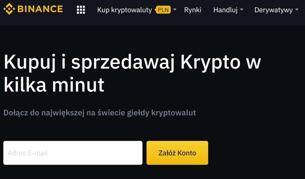 binance kryptowaluty