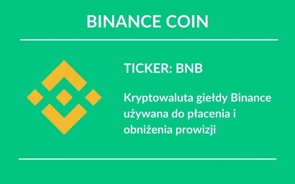 Binance coin wschodzące kryptowaluty